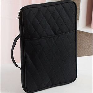 Other - Black quilted multi purpose organizer
